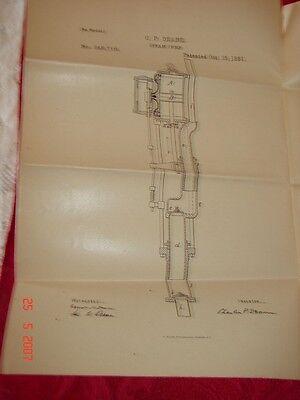 C P Deane Steam Pump Patented Oct. 25 Springfield Ma - U S Patent Office