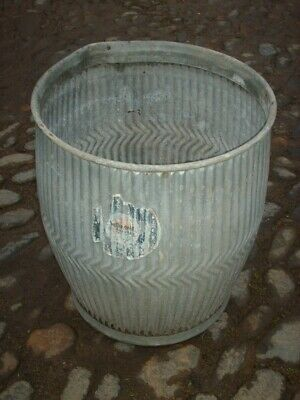 GENUINE VINTAGE RUSTIC GALVANISED DOLLY TUB  / GARDEN PLANTER