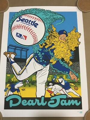 PEARL JAM SEATTLE 2018 POSTER: AMES BROS. SOLD OUT. Not Missoula Wrigley Fenway