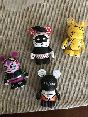 Disney Vinylmation URBAN REDUX series 2 #2collectible NEW XOXO rare girl 4 pcs