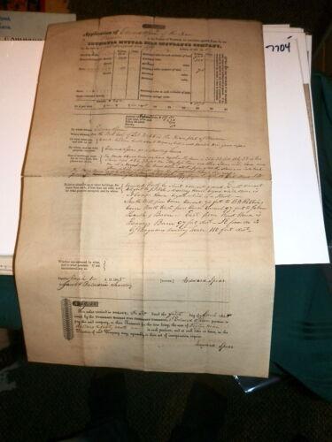 #7704,Trumbull(Ohio)Insurance Co,Application,1845,Very Rare