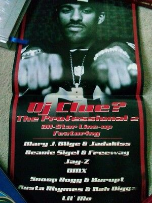 Dj Clue? The Professional 2 all-Star Line-up 12X24 Double Sided Damaged Poster