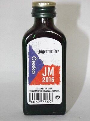 Jägermeister mini flasche EM 2016 JM  Česko Sonderedition 0,02 ml 35% vol