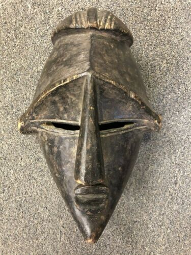 African Tribal Art - Hand Carved Wood Mask - Decorative Wall Hanging