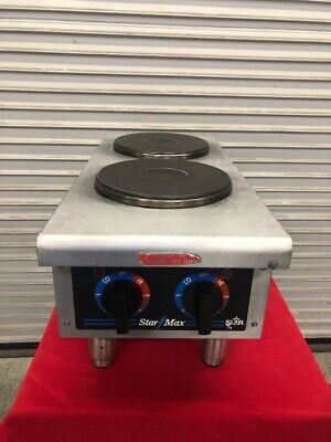 2 Burner Electric Hot Plate Countertop Cook Table Top Stove Star 502 1825