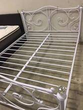 Full Size White Royal Style Brand New Full Metal Bed Frame Clayton South Kingston Area Preview