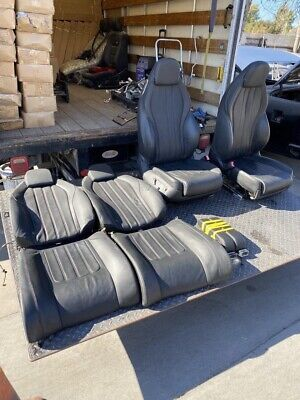 2012-2018 BENTLEY CONTINENTAL Complete  SEAT ASSY, BLACK, Front And Back