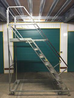 1.65m h BJ Turner Mobile Platform Ladder GTS29/7 Lockable Wheels