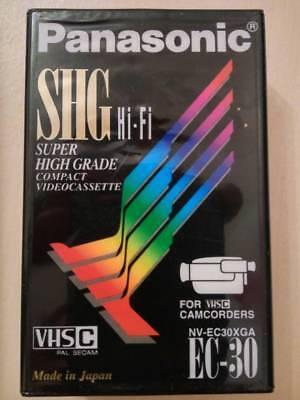 Panasonic SHG EC-30 VHS-C Camcorder Compact Video Cassette Tape PAL SECAM