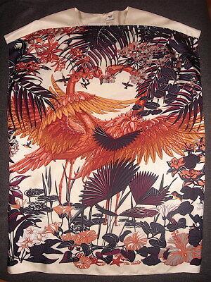 Hermes FLAMINGO PARTY Silk Twill Tunic/Dress. 38.