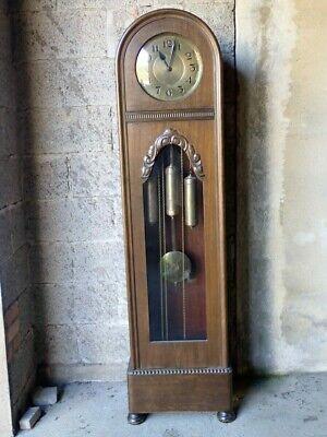 Antike Jugendstil Bodenstanduhr 3 gewichtig mit Westminsterschlag, Eiche um 1910