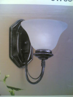 NIB Nice Antique-Looking WALL SCONCE Light (black-brown Antique Brown Wall Light