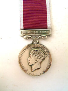 WW2 GEORGE VI BRITISH ARMY LONG SERVICE AND GOOD CONDUCT MEDAL COMMONWEALTH