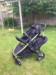 Strider Plus Double Pram 4 wheel with Toddler Seat (95%New) Rowville Knox Area Preview