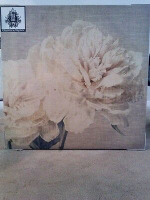 Knowledgeable in Decor picture of flower on canvas, cream/tan color, new with plastic, tag