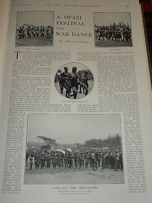 1901 Boer War Swazi Festival & War Dances Kostüm Usw