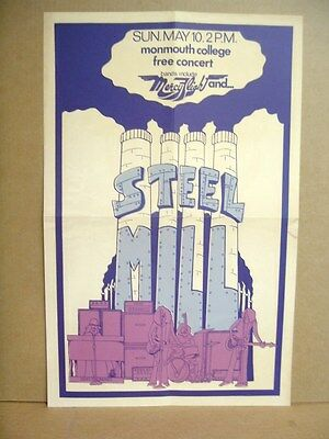 "Repro Bruce Springsteen STEEL MILL 14"" x21"" Concert Poster Monmouth College 1970"