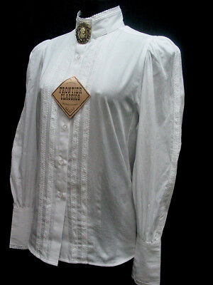 Victorian White Grace Blouse Frontier Classics Pioneer Old West Free Brooch S 3X