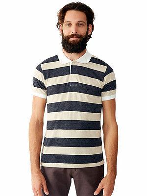 ALTERNATIVE APPAREL Short SLEEVE Ugly POLO Collar SHIRT Mens sz MED XL Tan BLACK ()