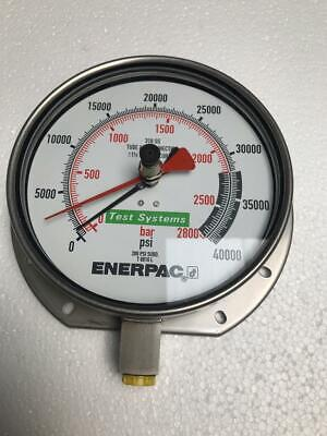 Enerpac T 6010l Test Systems Pressure Gauge 2800 Bar 40000 Psi New