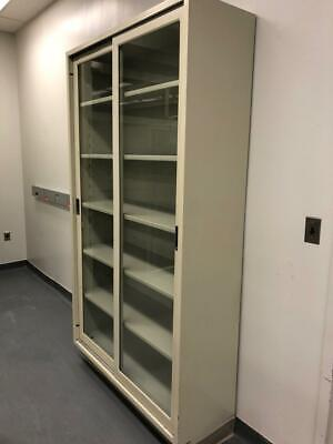 Hamilton Tall Metal Laboratory Storage Cabinet With Glass Door