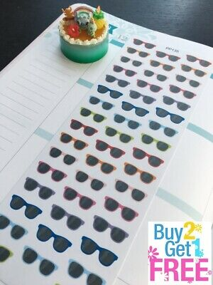 PP135 --  Sunglasses Life Planner Stickers for Erin Condren (Sunglasses Stickers)
