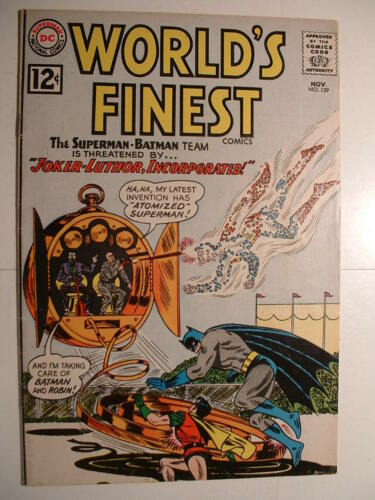 World's Finest #129 -DC 1962 - Joker-Luther, Inc!  (probably just a tax shelter)