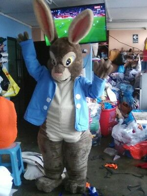 Peter Rabbit Brown Bunny Mascot Costume Party Character Birthday Halloween - Bunny Mascot Suit