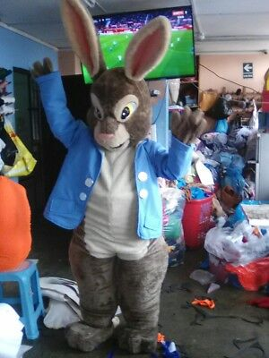 Peter Rabbit Brown Bunny Mascot Costume Party Character Birthday Halloween Suit