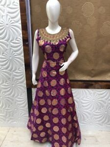 Indian pakistani ladies Bollywood collection Anarkali gown suit
