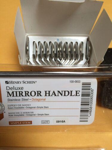 Dental Premium 12 x  Mouth Mirror heads simple stem #5 Plain + Free Handle