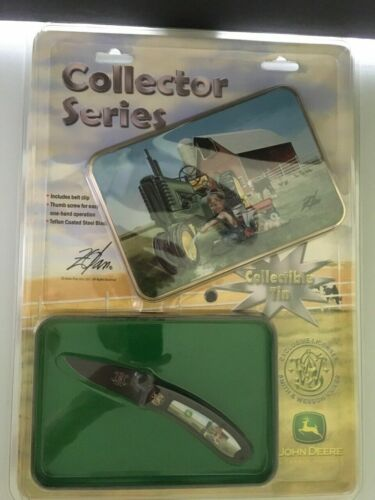 Smith & Wesson Collector Series John Deer Folding Pocket Knife w/Tin NIP