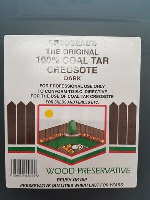 25L DARK BROWN, ORIGINAL CREOSOTE, 100% COAL TAR, FOR PROFESSIONAL USE ONLY
