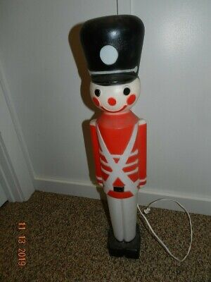 """30"""" Toy Soldier 7644 Illuminated Lighted Plastic Blow Mold Display Vintage Union"""