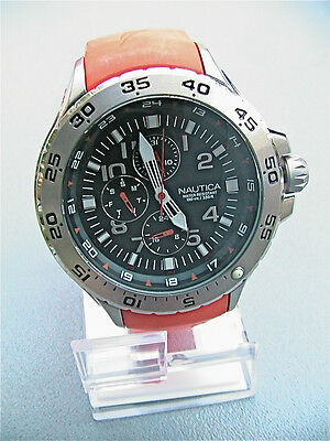 NEW Nautica Men's N14547G NST Multi Orange Resin Sport Watch