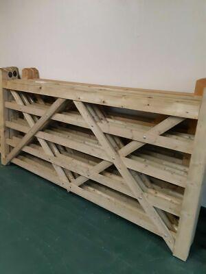 Universal 5 Bar Wooden Gate/Field Gate - 7'(7ft) Wide 4'(4ft) High