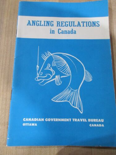 1960 Vintage Angling Regulations in Canada 1960 covers all Provinces >