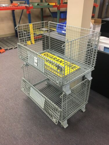 """Wire Stackable Collapsible Baskets 31"""" x 20"""" x 21""""-Lot 10 pcs."""