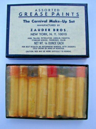 Vintage Unused Zauder Bros The Carnival Make-Up Set Grease Paints New York