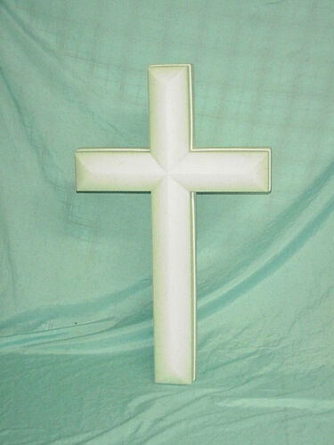 """26"""" Blowmold Nativity Easter Christmas Cross Outdoor Indoor Union Memorial White"""