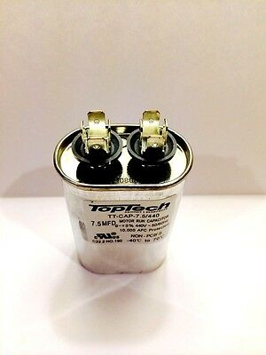 New Oval Motor Run Capacitor 7.5 Mfd Uf 370v 440v Ac Motor Hvac 440 Vac V Volts