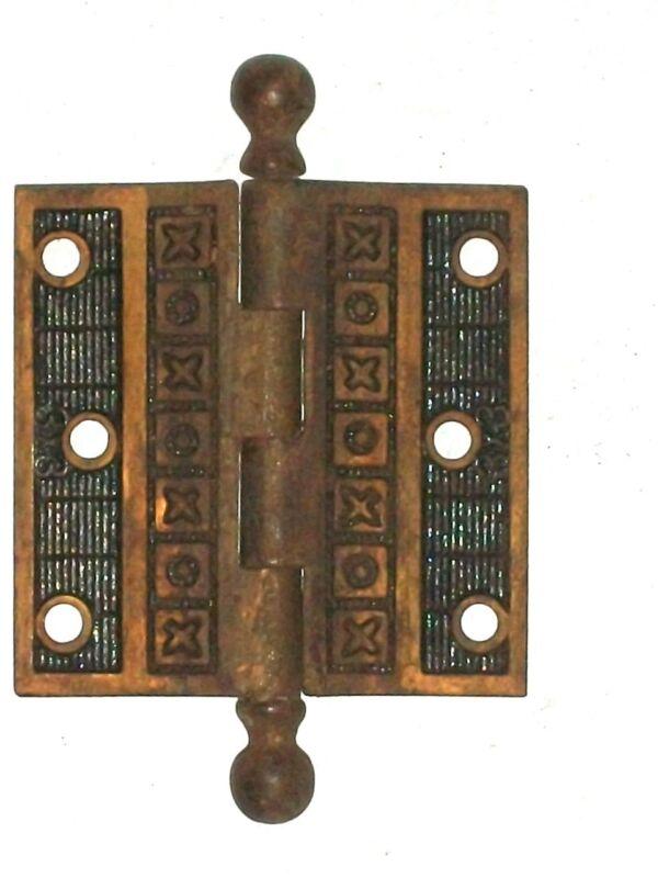 Antique Eastlake Victorian Door Hinge 3 x 3