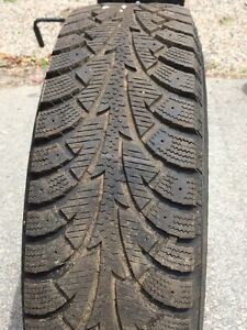 2 Hankook P195/75R14 Winter Tires