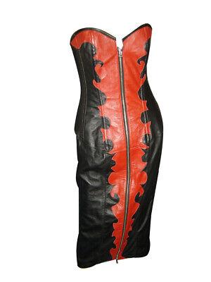 Echtes echtes Leder Korsett Korsett Kleid Gothic Cosplay - Holloween Kleider