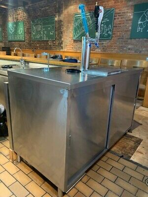 Tap Beer Stainless Steel Kegerator Good Condition.