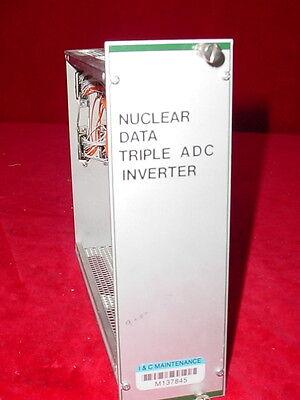 Nuclear Data Nim Bin Plug-in Module Tennelec Egg Ortec