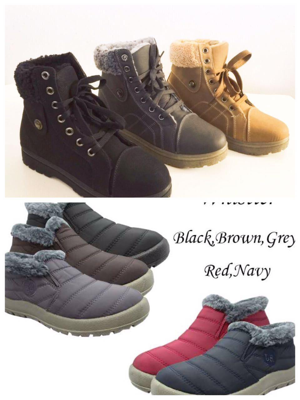 Women's Sneaker Boots Winter High Top Lace up Fur Combat War