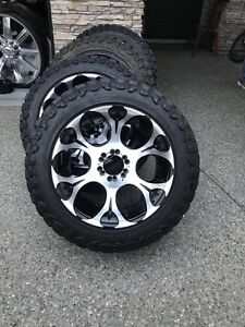 """20"""" Deep Dish Fuel rims and tires 33/12.50r20"""