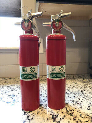 Halon 1211 Fire Extinguishers 2 12lbsselling Two. One Needs To Be Recharged.