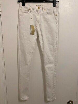 Michael Kors Selma White Skinny Jeans, Womens Size XS/S